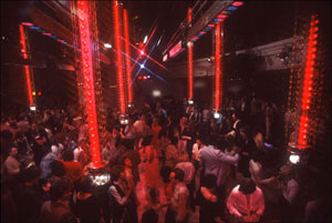 Studio 54 - Dancefloor from the DJ booth