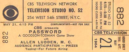 CBS Studio 52 ticket