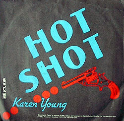 Karen Young - Hot Shot single cover