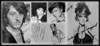 Signed photos by Cerrone - Deborah Washington - Taana Gardner- Amii Stewart - Ann Margret