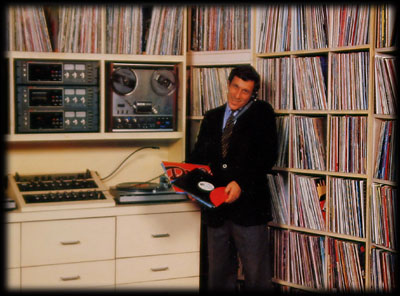 Barry with some of his records