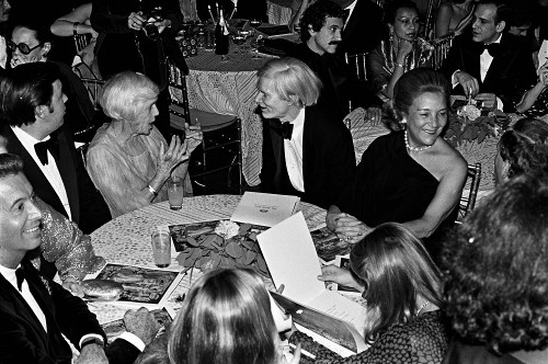 Lilian Carter and Andy Warhol at Studio 54