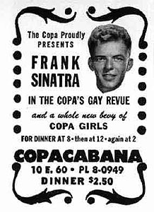Frank Sinatra at the Copacabana