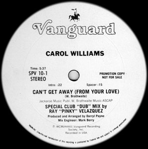 Carol Williams - Can't Get Away From Your Love - Special Club DUB Mix