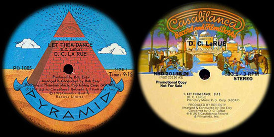 Pyramid and Casablanca releases of 'Let Them Dance'