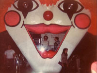 FunHouse clown DJ booth