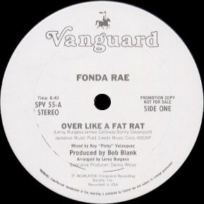 Fonda Rae - Over like a fat rat 12inch single