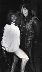 Geraldine with Rick James