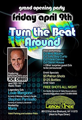 Turn The Beat Around Party flyer with DJ Mike Maurro