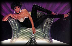 Pattie Brooks on a sofa