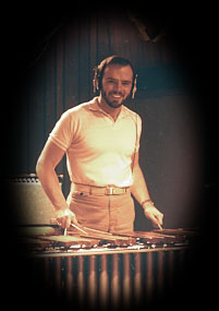Peter Brown playing marimba