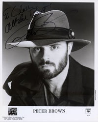 Signed photo - To Claes (Discoguy). All the Best! Peter Brown