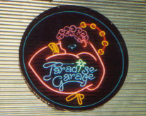 Paradise Garage sign on the wall