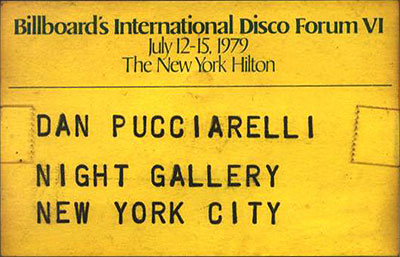 Billboard Disco Forum 1979 badge