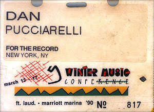 Winter Music Conference 1990 badge