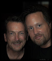 Robbie Leslie and Discoguy at an exclusive Studio 54 event in Stockholm, Sep 2013