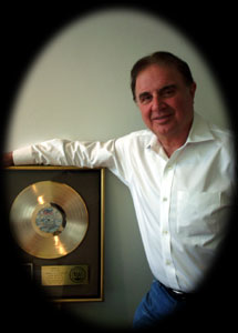 Ken Cayre with Gold Record