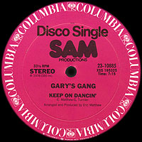 SAM Productions stamp on Columbia Records 12-inch