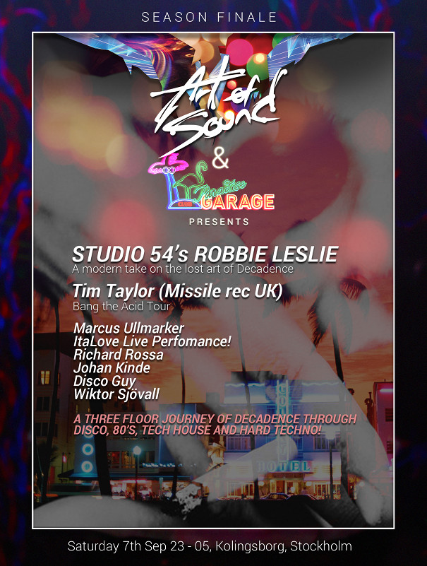Flyer for the Studio 54 Party event in Stockholm