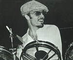 Peter Brown playing drums